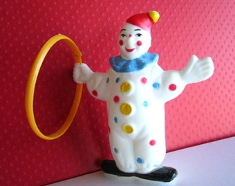 Clown with Hoop Cake Topper