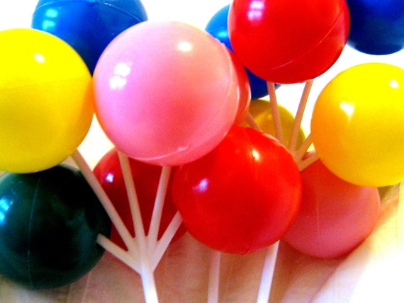 Balloon Cake Decorations LARGE CLUSTERS One Piece