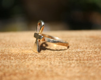Ankh Egyptian 14k gold ring Key of Life