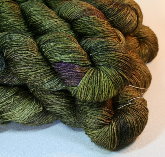 Vindolanda - hand dyed Lotus BFL Silk Sock yarn - 100g
