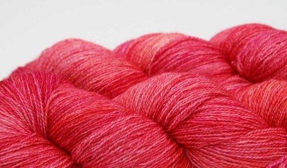 Alastrann - Guinevere Lace hand dyed BFL Silk yarn - 100g
