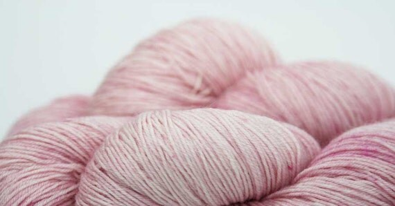 FREE SHIPPING Cherry Blossoms - hand dyed Avalon BFL Sock yarn 100g