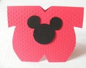 Mickey Onesie Party Favor Twins Mickey Minnie Mouse Shower Party Favor Mickey Minnie Baby Shower Party Favor Onesie Die Cut Centerpiece Card