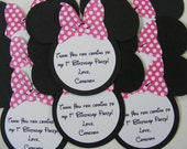 Minnie Thank You Tag Minnie Mouse Inspired Thank You Note Tags Party Favor Personalized Item