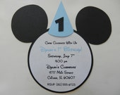 Mickey Mouse Invitations with Party Hat Birthday Party Invitations Mickey Mouse Inspired - Envelopes Included