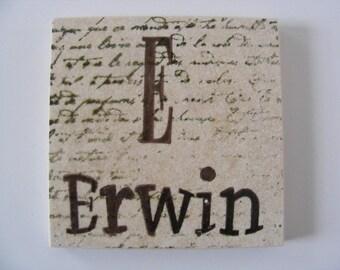 Monogram Family Name Personalized Trivet
