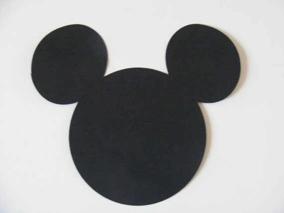 40 Mickey Mouse Head Die Cut - Custom Listing for yahairapt