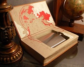 Hollow Book Safe & Flask THE RISING SUN  (Flask Included)