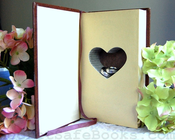 Hollow Book Safe with Heart (ROMANCE TREASURY)