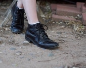 80s/90s Leather Ankle Boots sz 6