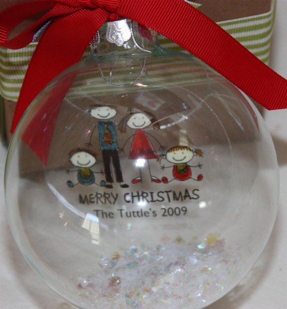 Create A Family Personalized Christmas Ornament