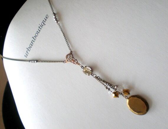 Crystal Brass Locket... Boutique Wrap Locket Design