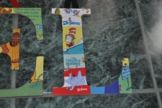 Dr. Seuss Wooden Letters