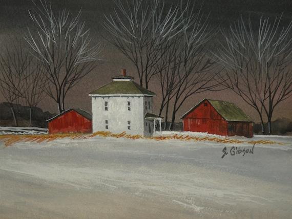 William Clayton's Farm, original farm, barn painting