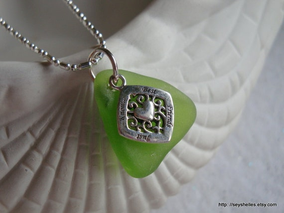 Best Friends Just Know Sea Glass Necklace