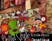 Canadiana - Digital Scrapbooking Kit (digital papers and elements)