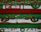 Robert Kaufman, How The Grinch Stole Christmas, Fat Quarter Bundle