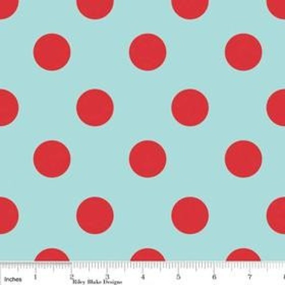 The Quilted Fish for Riley Blake,Sugar and Spice, Blue Dots, 1 yard