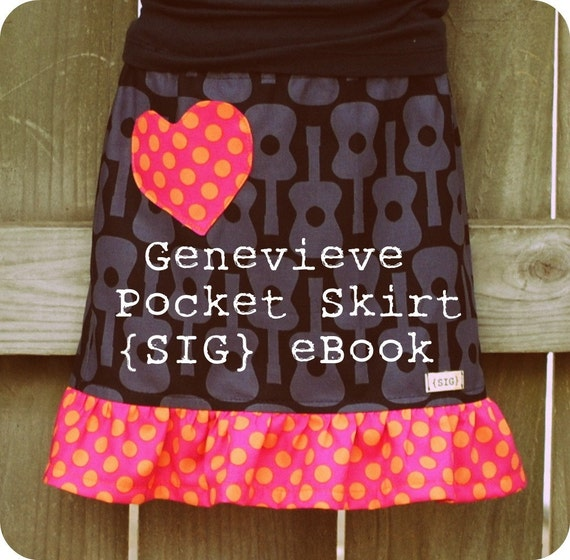 Genevieve Pocket Skirt- Sewing Pattern for size 12 months to youth 6