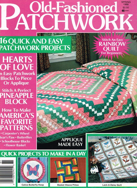 Old Fashioned Patchwork Quilt Magazine Spring 1988