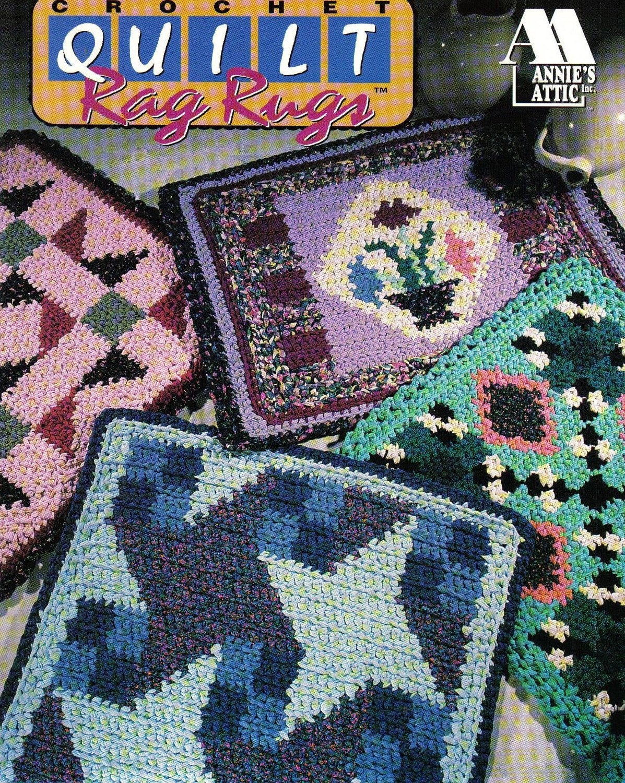 Book Cover Crochet Quilt Pattern ~ Quilt rag rugs crochet pattern book