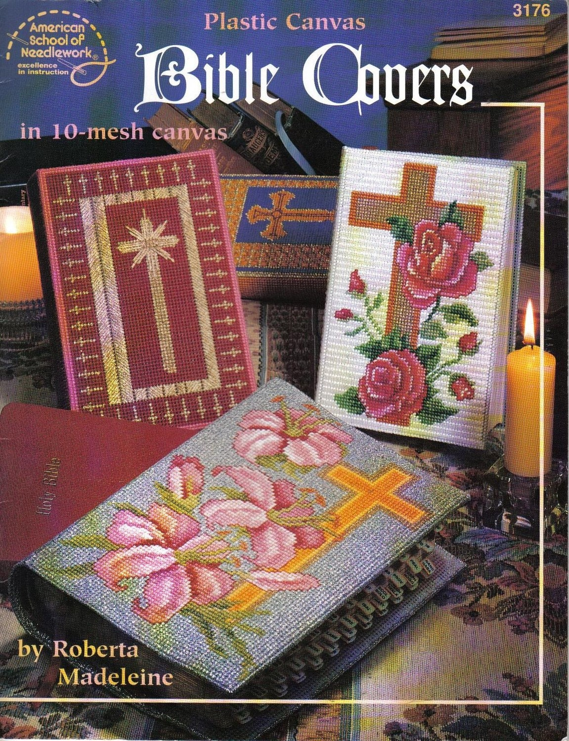 Plastic Canvas Book Cover Patterns : Bible covers plastic canvas pattern book