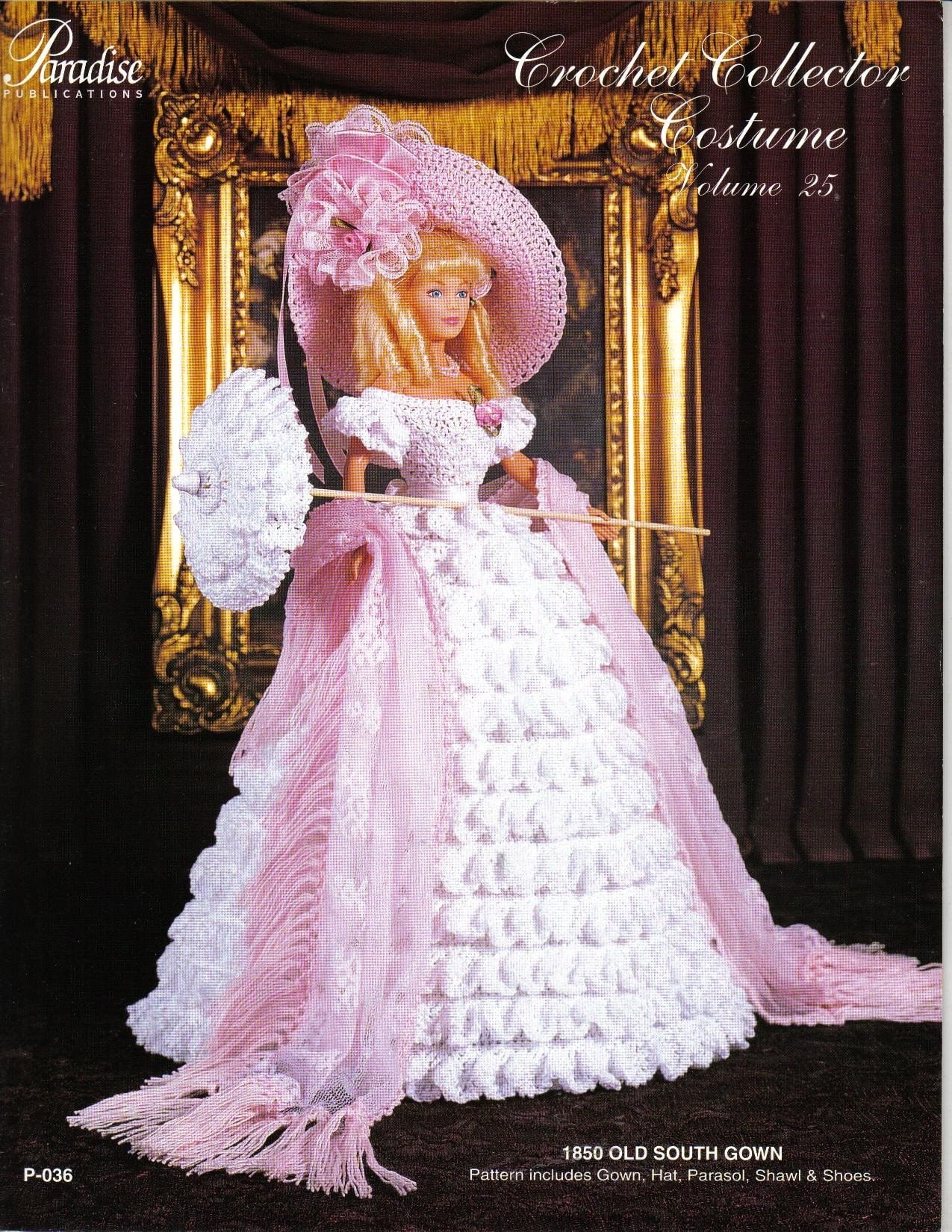 CROCHET Fashion Doll Dress Pattern / 1850 Old South Gown