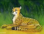 Resting Cheetah - PRINT