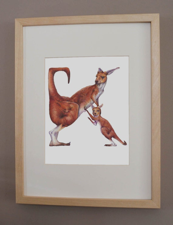 K is for Kangaroo - PRINT