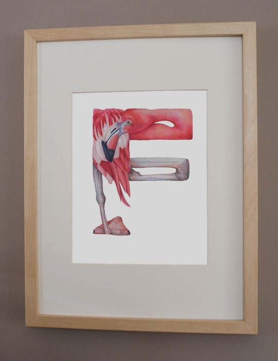 F is for Flamingo - PRINT