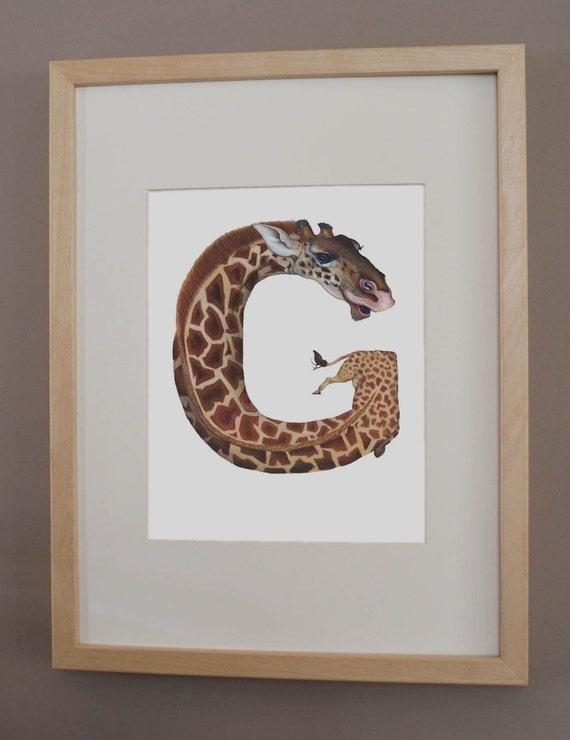 G is for Giraffe - PRINT