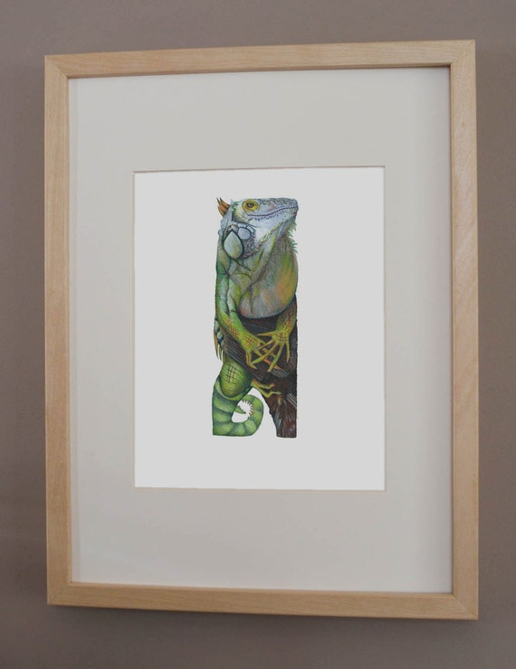 I is for Iguana - PRINT