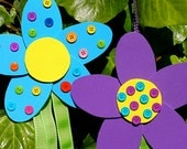 Spring Flower Streamers Craft Kit -  Purple and Blue