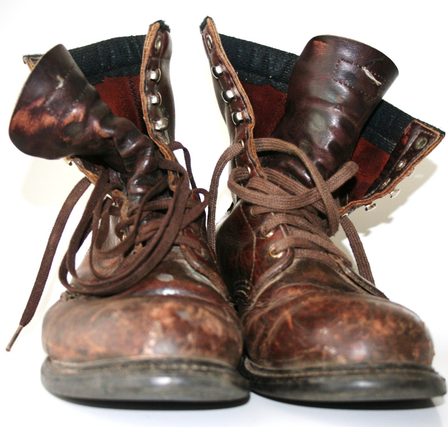 Vintage Dusty Weathered Hipster Boots