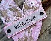 Valentine pink heart magnet