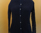 Navy Blue Lace Cardigan
