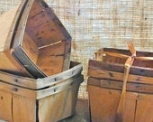 Vintage Wood Berry Baskets Set of Four
