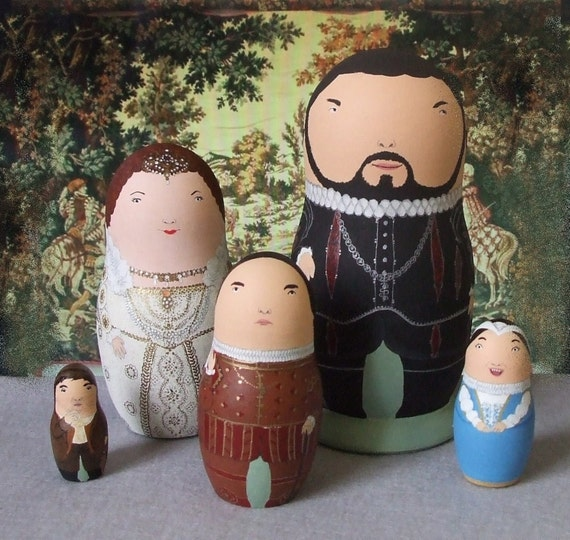 Blackadder (series II) Matryoshka Dolls