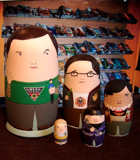 The Mini Big Bang Theory Matryoshka Dolls