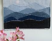 Blue Ridge Mountain Wall Art Mini Quilt Number 7