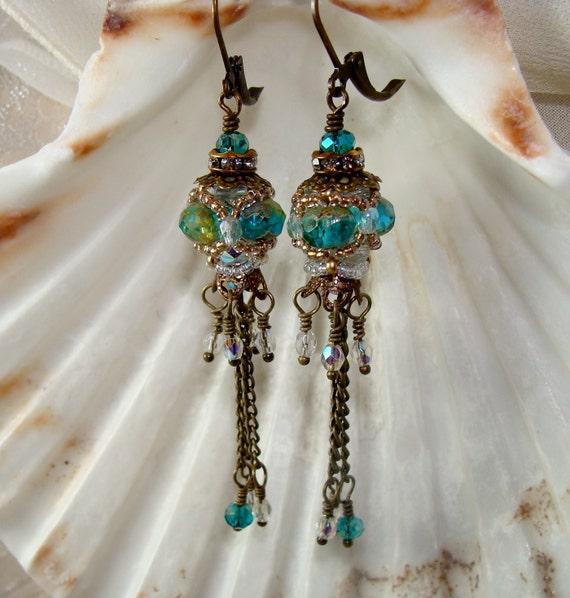 Victorian Beaded Jewel Earrings