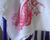Organic Leaf Pattern - Silkscreened Dish Towel