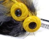 Black and Yellow Feather Headband