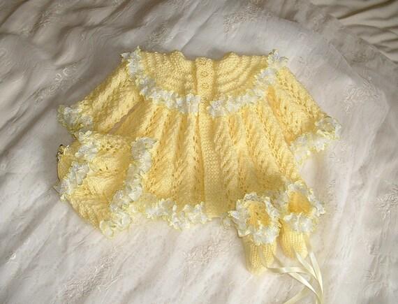 Little Annie lemon and lace three piece set