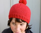 Life Aquatic, red beanie sailor hat with pom pom