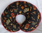 Black Retro Tattoo Boppy Pillow Cover for baby boy or girl Nursing Pillow Cover Breastfeeding Pillow