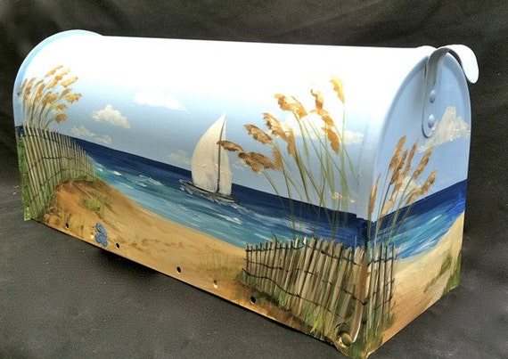 painted mailbox designs 1