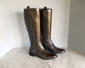 Brazilian Chocolate Brown Leather Equestrian Boots (8 1/2 B 1/2 US)