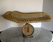 Vintage Jay bee Baby Scale With Wicker Basket