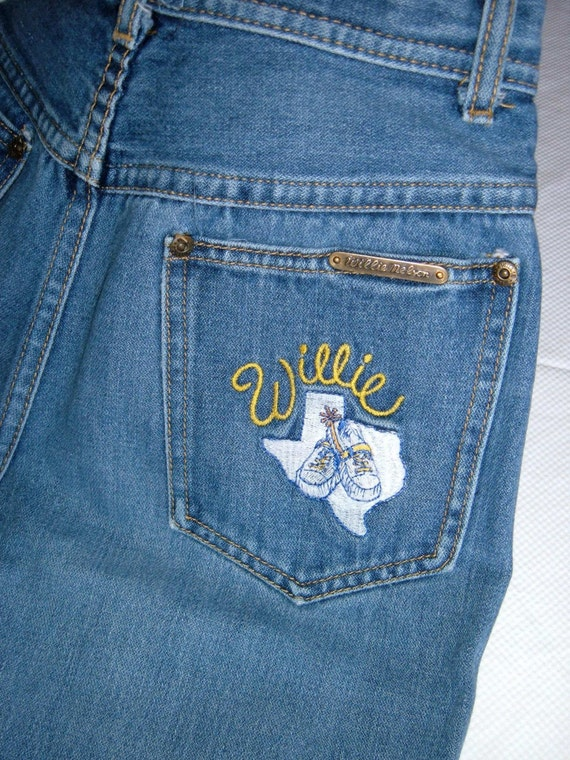 rare 1970s WILLIE NELSON JEANS (size women 11 US)